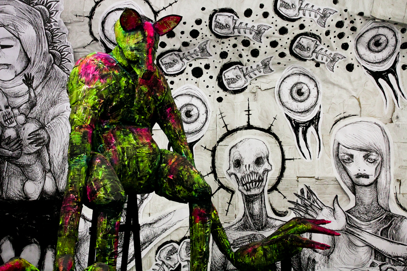 Degenerate Chromatism Multimedia Installation by multimedia dark artist Talissa Mehringer