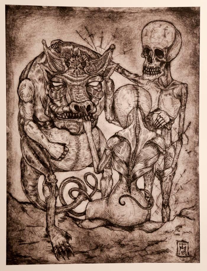 Surreal Nightmare etching