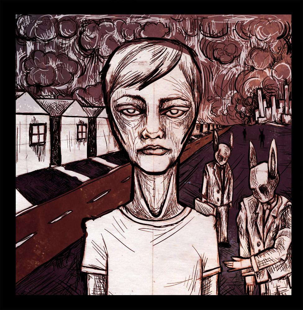 Skittish Album Art - Digital Illustration