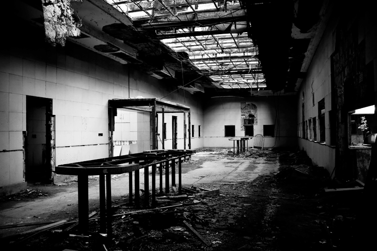 Abandoned U.S Post Office in Gary, Indiana - Black and White Urbex Photography
