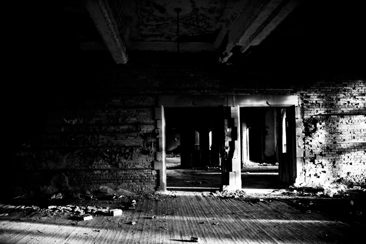 Abandoned City Methodist Church - Black and White Urbex Photography