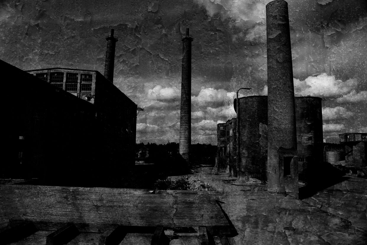 abandoned cement factory urbex photo